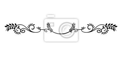 Sticker dekorative Vintage Border Illustration (natürliche Pflanze)