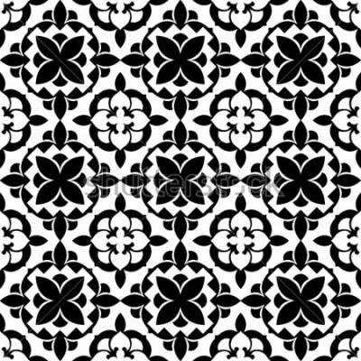 Sticker dekoratives Blumenmuster
