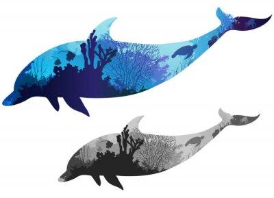 Sticker Delphin