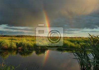 der Abend Regenbogen.