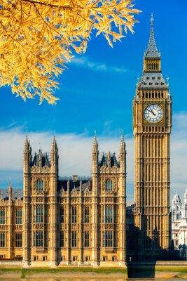 Sticker Der Big Ben und das House of Parliament, London, Großbritannien.