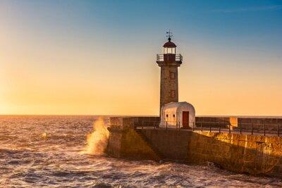 Sticker Der Leuchtturm von Porto, Portugal