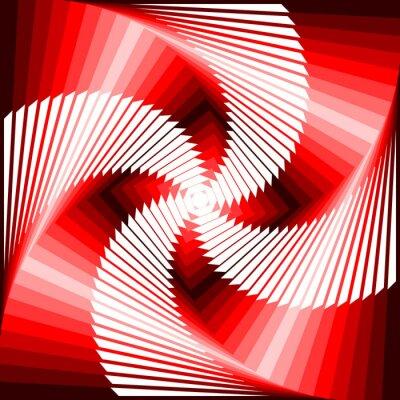 Sticker Design bunte Wirbel-Bewegung Illusion Viereck geometrischen zurück