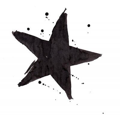 Sticker Design-Element. Weinlese grunge Retro Stern.