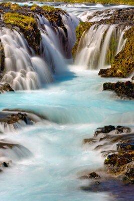 Sticker Detail der Bruarfoss Wasserfall in Island