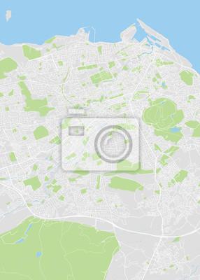 Detailed vector color map of Edinburgh