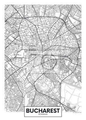 Detaillierte Vektor-Karte Stadtplan Bukarest