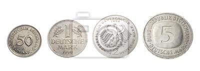 Deutsche Mark Münzen Notebook Sticker Wandsticker Taschengeld