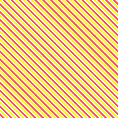Sticker Diagonal Streifen nahtlose Muster. Geometrische klassischen gelben und roten Linie Hintergrund.