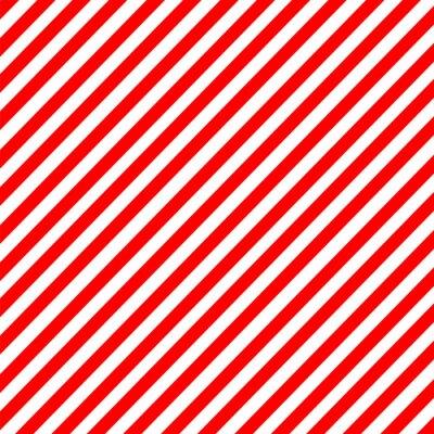 Sticker Diagonal Streifen rot-weiß Muster Vektor