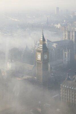 Sticker Dichter Nebel trifft London