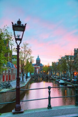 Sticker Die Basilika des Heiligen Nikolaus in Amsterdam