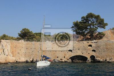 Sticker Die berühmten Calanques von Cassis, in der Nähe von Marseille, in Bouches du Rh