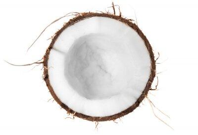 Sticker Die Hälfte der Kokosnuss Aufsicht