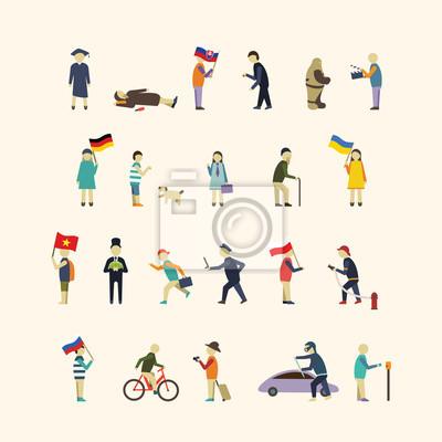 Die Menschen in der Stadt