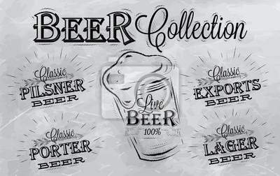 Die Namen der verschiedenen Arten von Bier