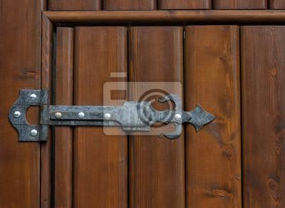 Sticker Die Scharnier Tür Klammer Metall Retro Vintage Gothic Hintergrund