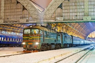 Sticker Diesel Personenzug in Lviv, Ukraine