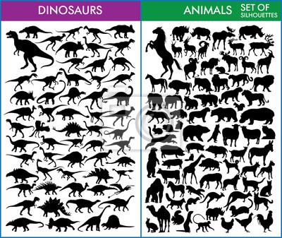 Dinosaurier und Tiere