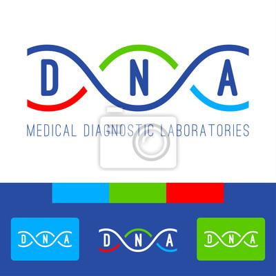 DNA-Logo weiß