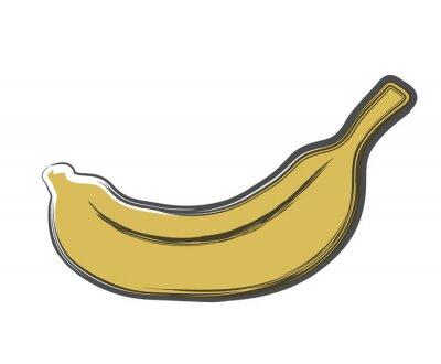 Sticker doodle banane