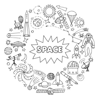 Sticker Doodle Raumelemente