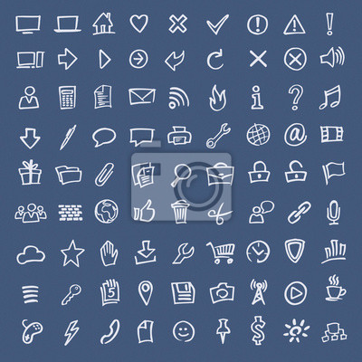 Doodle Skizze web icons Hand gezeichnet (Vektor)