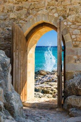 Sticker door open sea