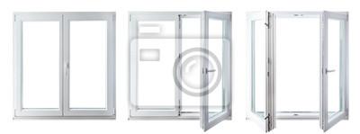 Sticker double door window isolated on white background