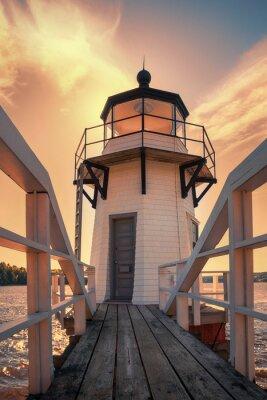 Sticker Doubling Point Leuchtturm in Maine, USA