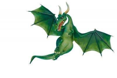 Sticker dragon cartoon is watchingn