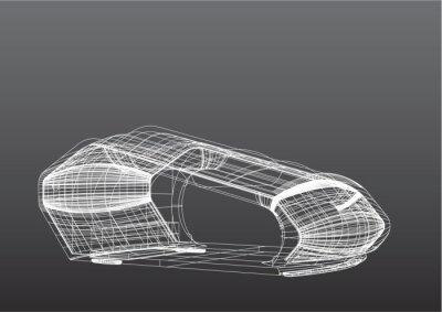 Drahtgitter-Maus 3D
