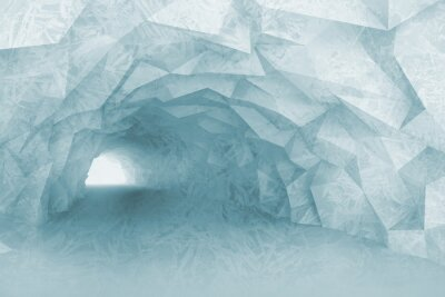 Sticker Drehen hellblau Tunnelinnenraum mit Kristallrelief
