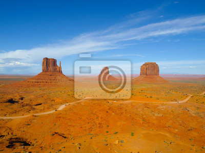 Sticker Drei Buttes von Monument Valley