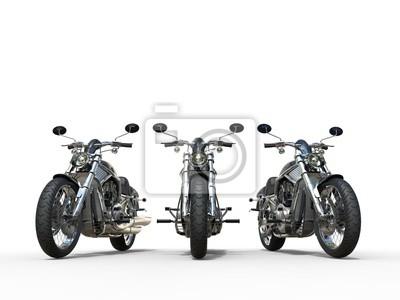Sticker Drei ehrfürchtige Vintage Motorräder