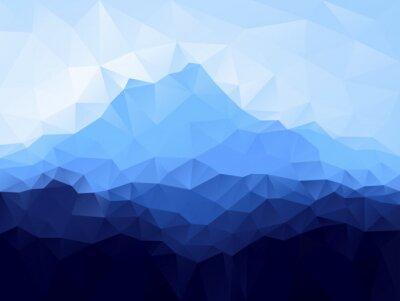Sticker Dreieck geometrischen Hintergrund mit blauen Berg