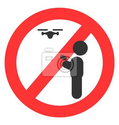 Drone Use Verbotszeichen