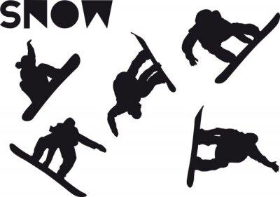 Sticker Druck Snowboarder Sprungsatz