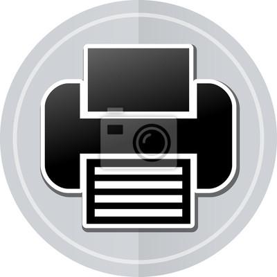 Sticker Drucker Aufkleber Symbol