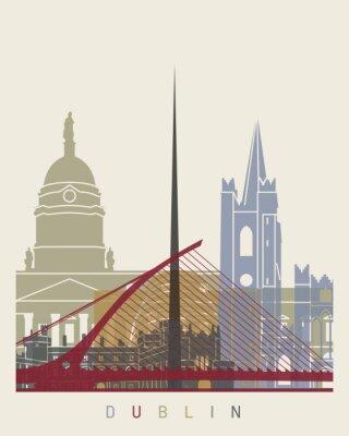 Sticker Dublin-Skylineplakat