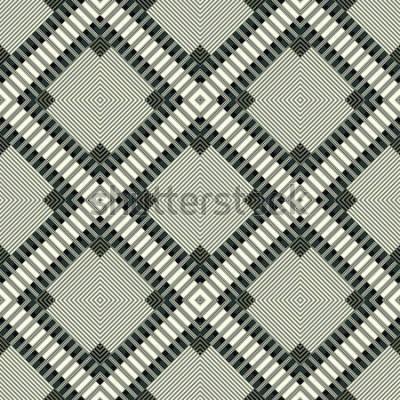 Sticker dunkle Linien und nahtlose Musterillustration des geometrischen Hintergrundes der Polygone