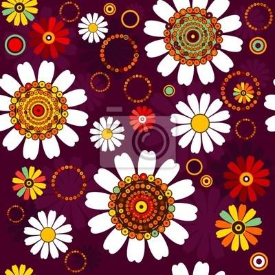 Dunkle nahtlose Blumenmuster
