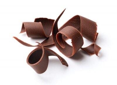Sticker Dunkle Schokolade Locken