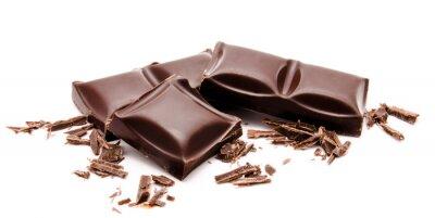 Sticker Dunkle Schokolade Stack mit Krümel auf einem weißen