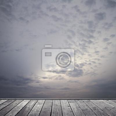 düsteren Himmel und Boden