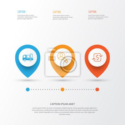 E-commerce-icons set. sammlung von wiederkehrenden zahlungen ...