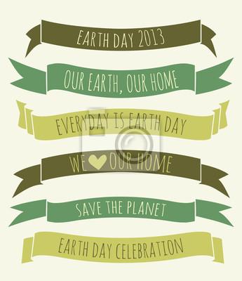 Earth Day Banner-Sammlung