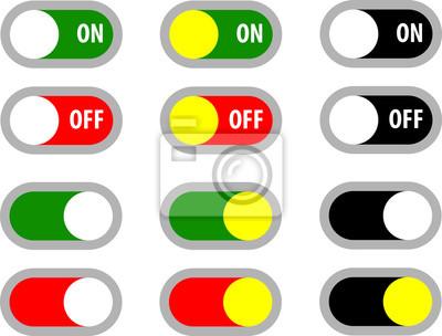 Sticker Ein Aus Schalter Symbol Schalter Symbol