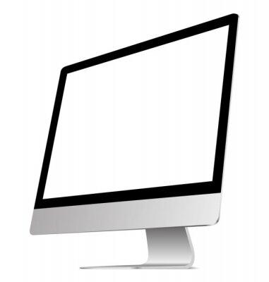 Ein PC-Monitor in einer flachen Vektorart