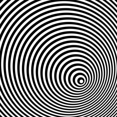 Sticker Ein Schwarzweiss-optische Täuschung